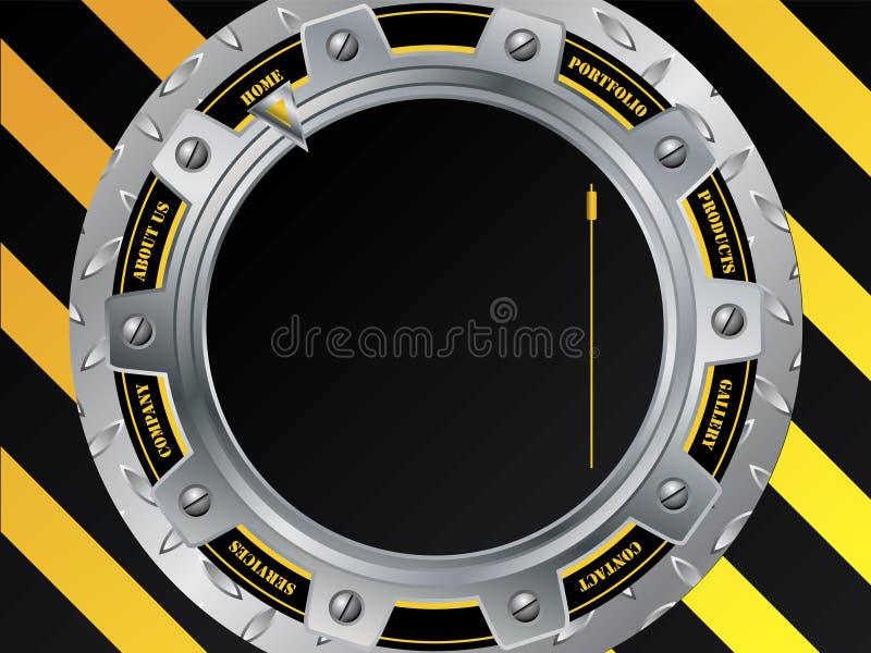 Molde fresco do Web da construção com roda denteada ilustração do vetor