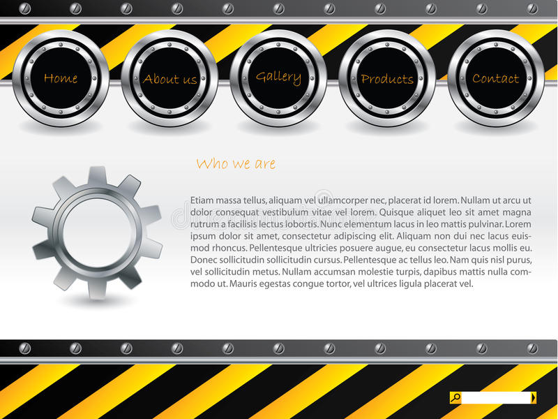 Molde fresco do Web da tecnologia ilustração stock