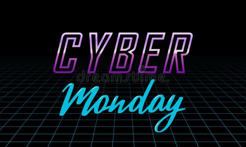 Molde futurista do projeto de segunda-feira do Cyber ilustração stock