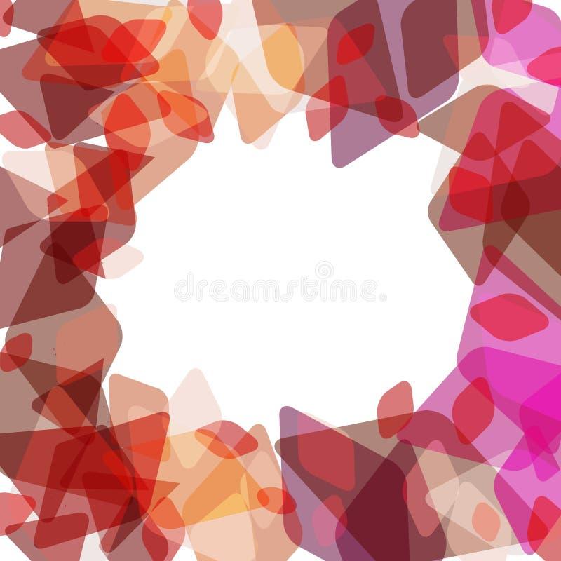 Molde geométrico abstrato da bandeira do cartão com rombo e elementos contemporâneos decorativos brilhantes marrom marrom vermelh ilustração royalty free