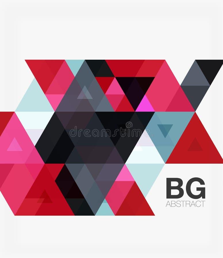 Molde geométrico do mosaico moderno do triângulo ilustração royalty free