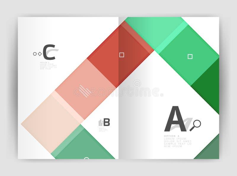 Molde geométrico moderno do folheto do inseto a4 do vetor ilustração do vetor