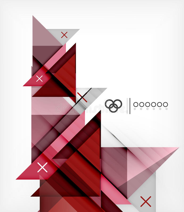 Molde geométrico para o folheto | Brochura ilustração royalty free