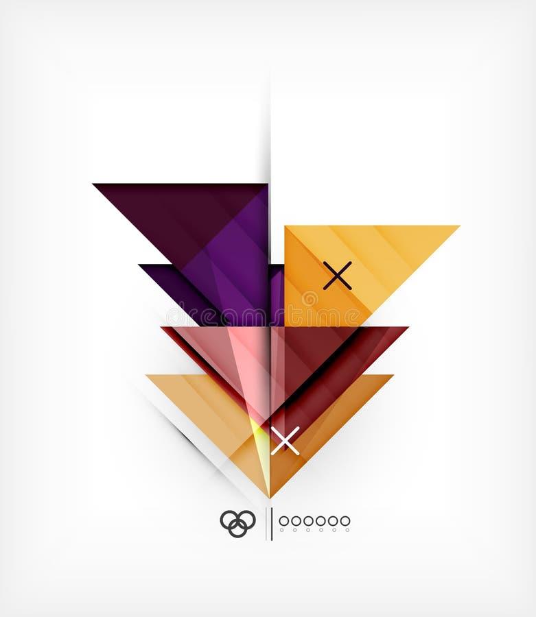 Molde geométrico para o folheto | Brochura ilustração do vetor