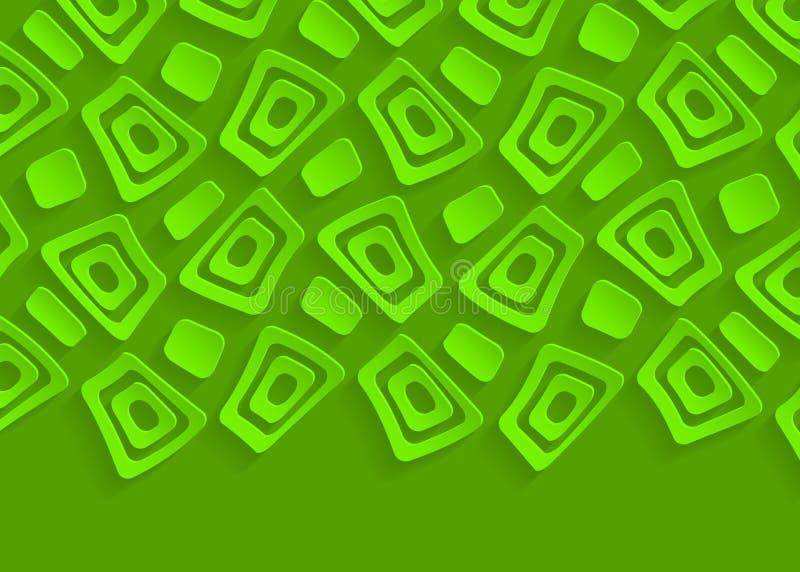 Molde geométrico verde do fundo do sumário do teste padrão ilustração royalty free