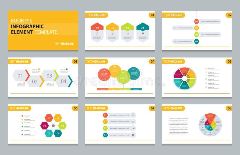 Molde gráfico do elemento da apresentação da informação do negócio ilustração royalty free