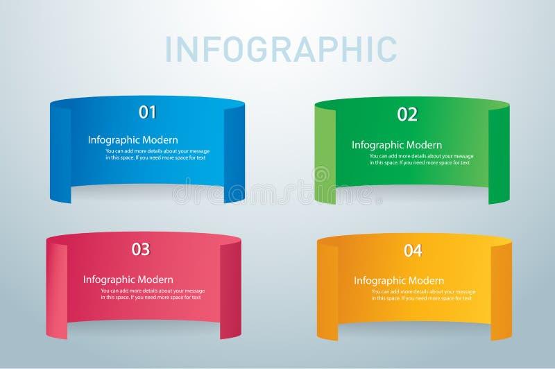 Molde gráfico do projeto do vetor das bandeiras da informação de papel ilustração stock