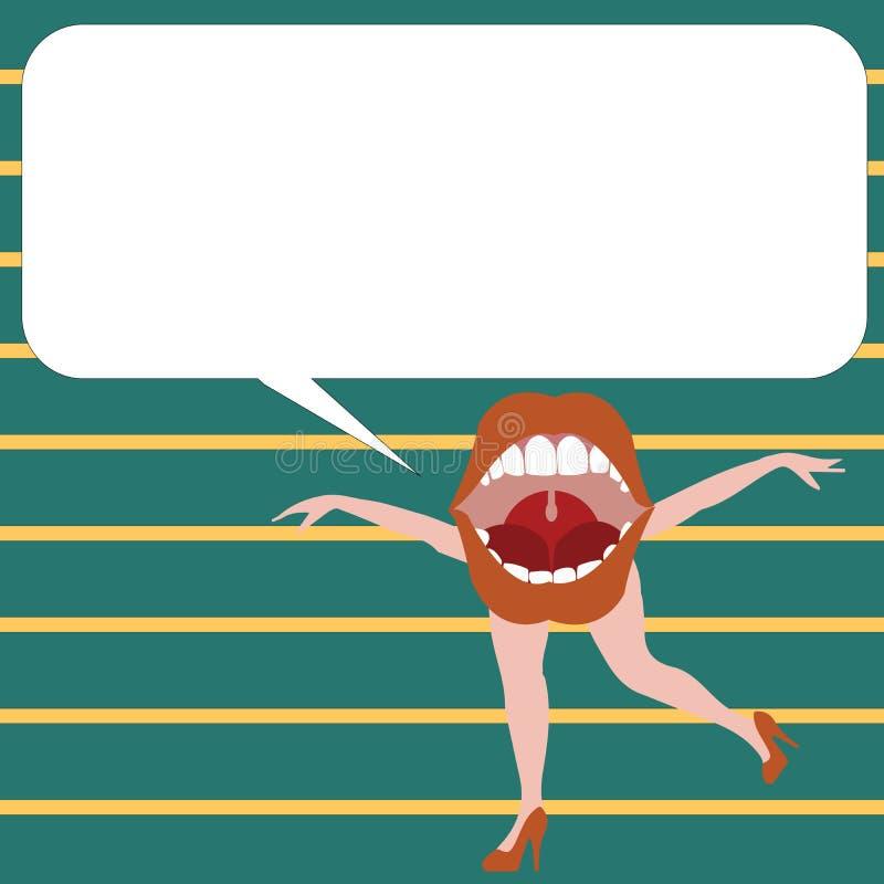 Molde gráfico esp minimalista vazio da disposição do molde da ilustração lisa do vetor do negócio do projeto para anunciar a boca ilustração do vetor