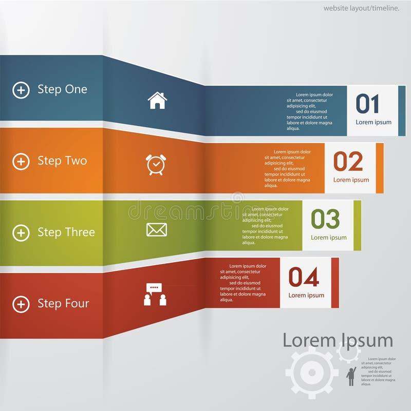 Molde/gráfico limpos das bandeiras do número do projeto. Vetor. fotografia de stock royalty free