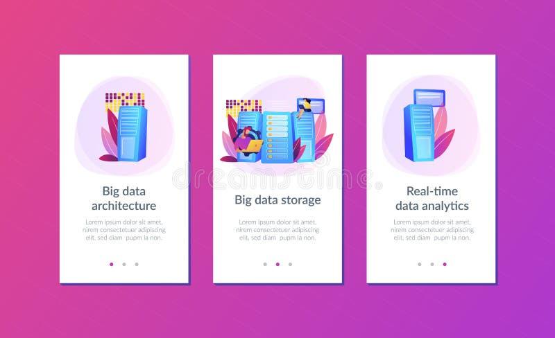 Molde grande da relação do app do armazenamento de dados  ilustração stock