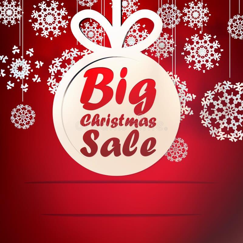Molde grande da venda do Natal com espaço da cópia. ilustração royalty free
