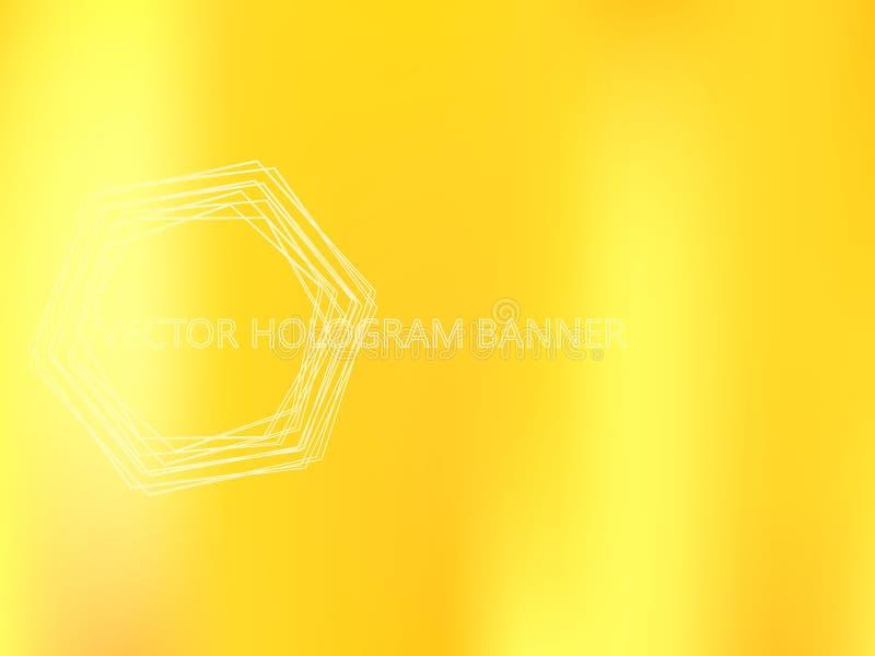 Molde holográfico dourado ilustração stock