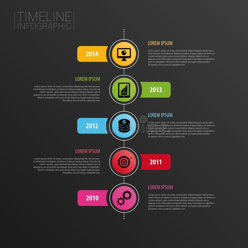 Molde horizontal moderno do projeto do espaço temporal de Infographic Ícones ilustração royalty free