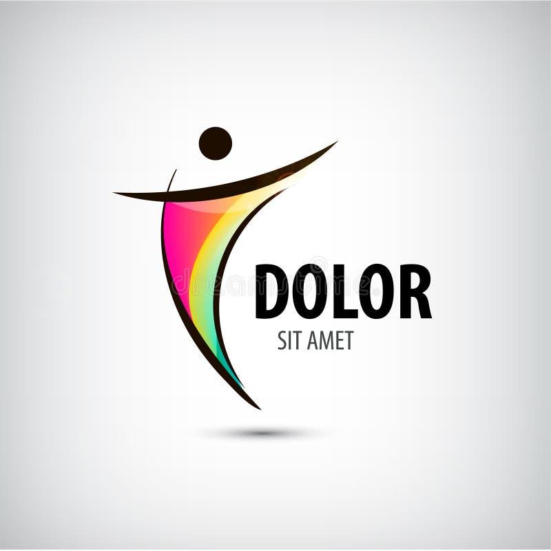 Molde incorporado do logotipo do vencedor da saúde do sucesso ilustração do vetor