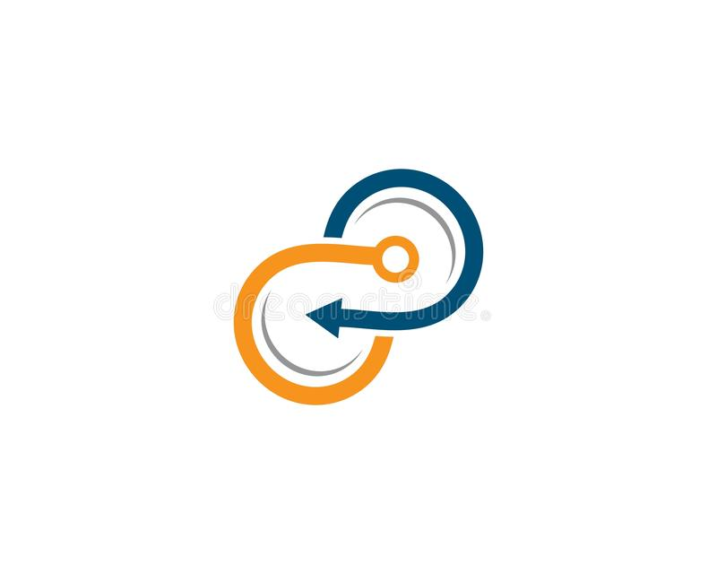 Molde incorporado do logotipo ilustração do vetor