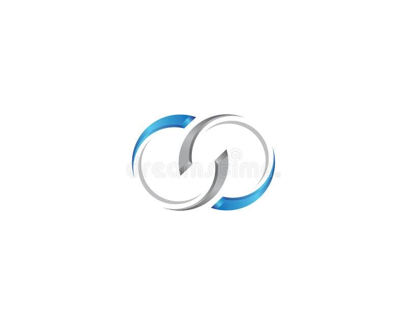 Molde incorporado do logotipo ilustração royalty free