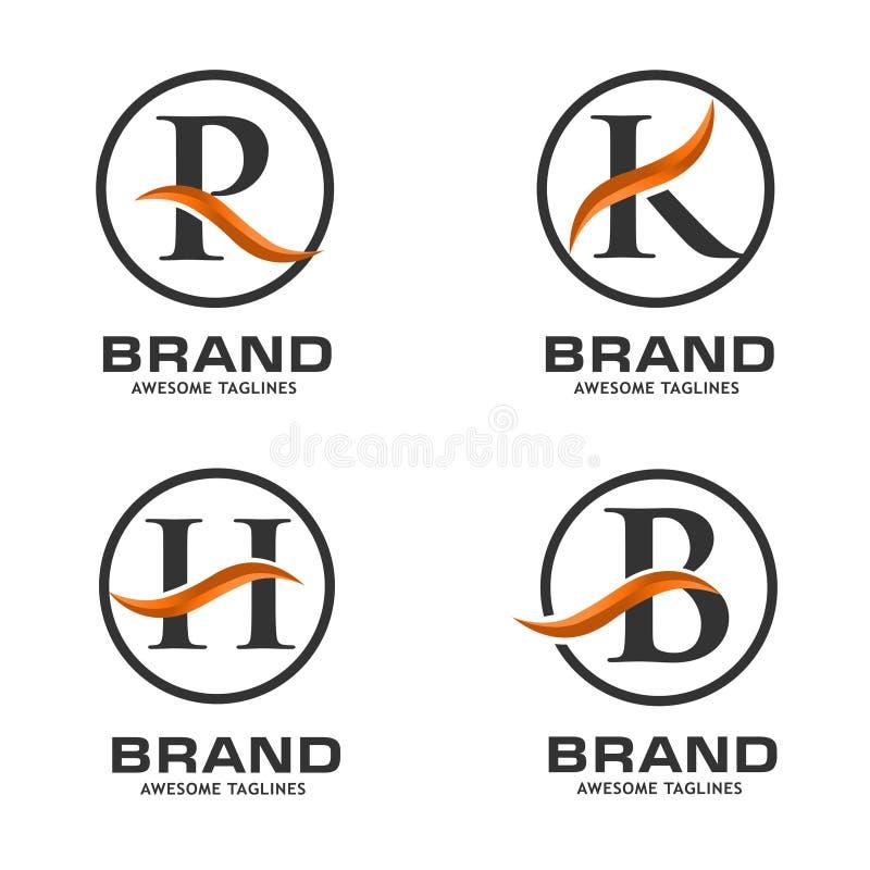 Molde incorporado do projeto do logotipo do swoosh da letra do negócio ilustração royalty free