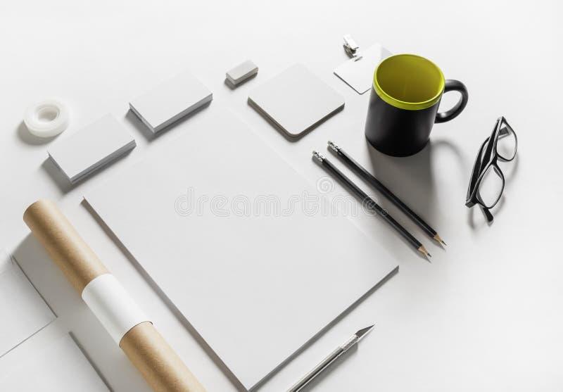 Molde incorporado dos artigos de papelaria fotografia de stock