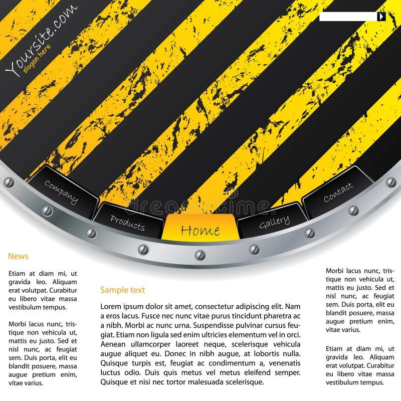 Molde industrial do Web de Grunge ilustração do vetor