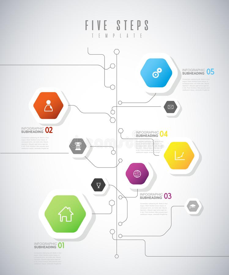 Molde infographic abstrato com bolhas ilustração stock