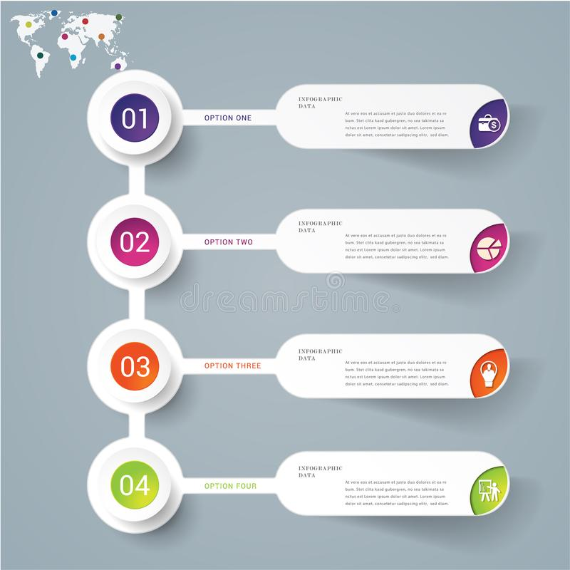 Molde infographic abstrato do projeto moderno ilustração royalty free
