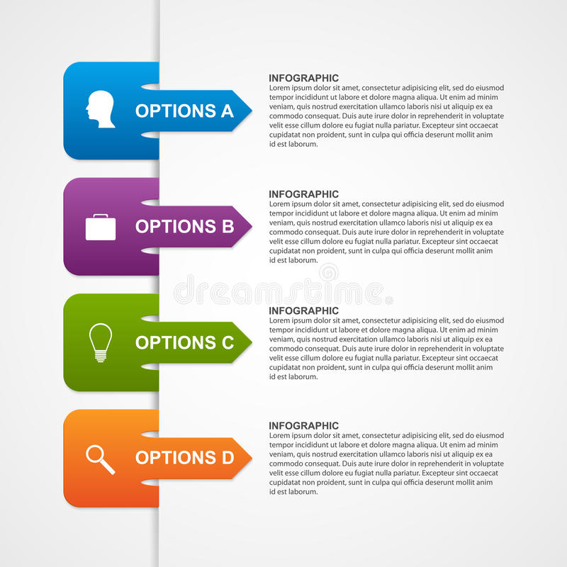 Molde infographic abstrato Elementos do projeto ilustração stock