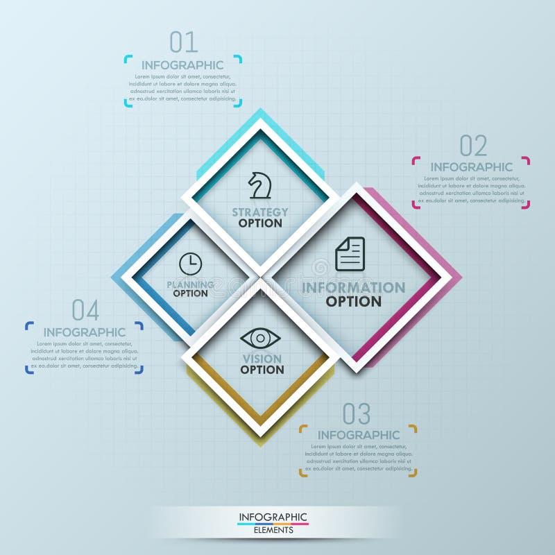 Molde infographic criativo do projeto ilustração royalty free