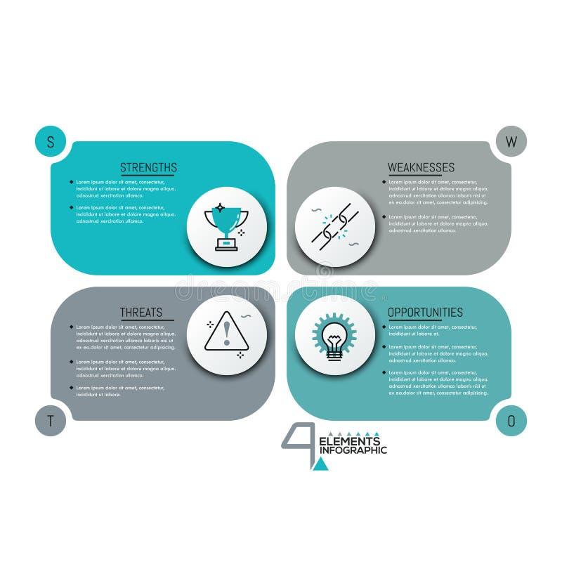 Molde infographic criativo do projeto ilustração do vetor