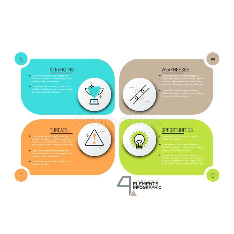 Molde infographic criativo do projeto ilustração stock