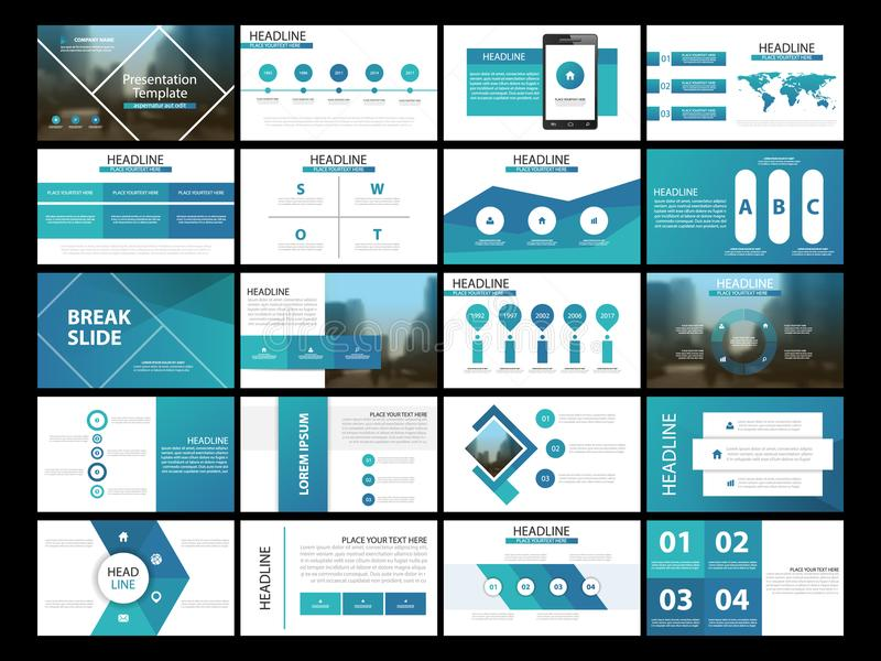 Molde infographic da apresentação de 20 elementos do pacote informe anual do negócio, folheto, folheto, inseto de propaganda, ilustração royalty free
