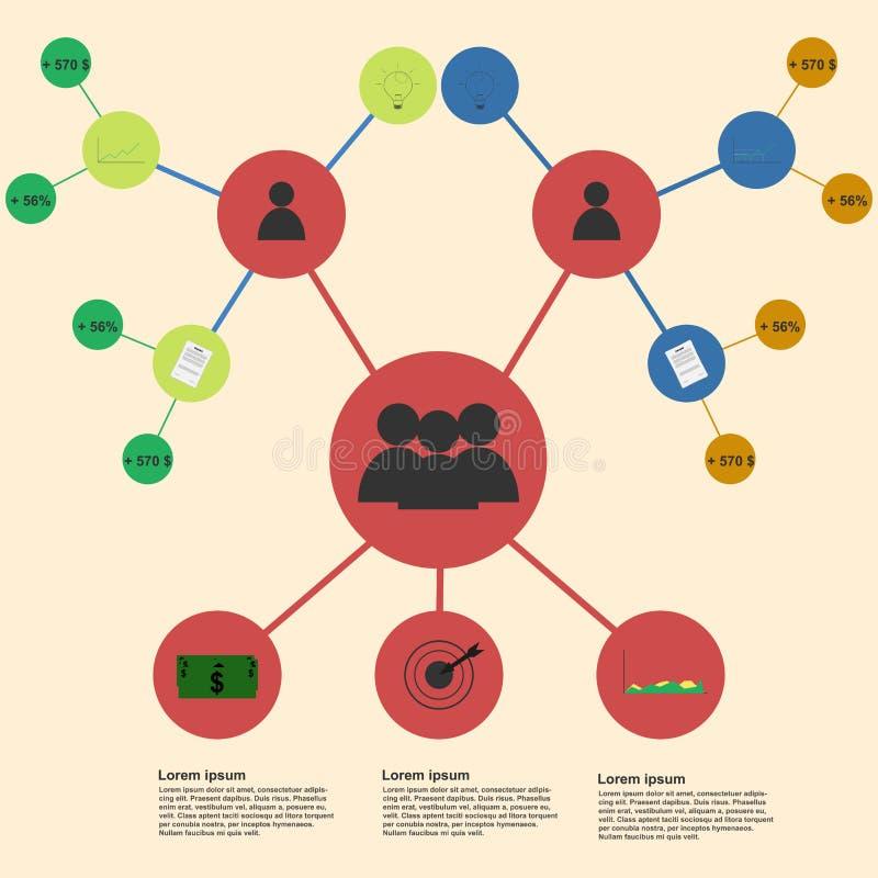 Molde infographic da equipe do negócio Infographics t da equipe do negócio ilustração do vetor