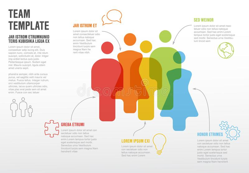 Molde infographic da equipe dos povos ilustração do vetor