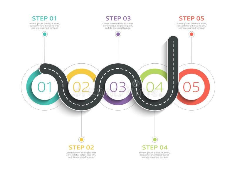 Molde infographic da estrada de enrolamento com uma estrutura posta download molde infographic da estrada de enrolamento com uma estrutura posta em fase ilustrao do vetor ccuart Image collections