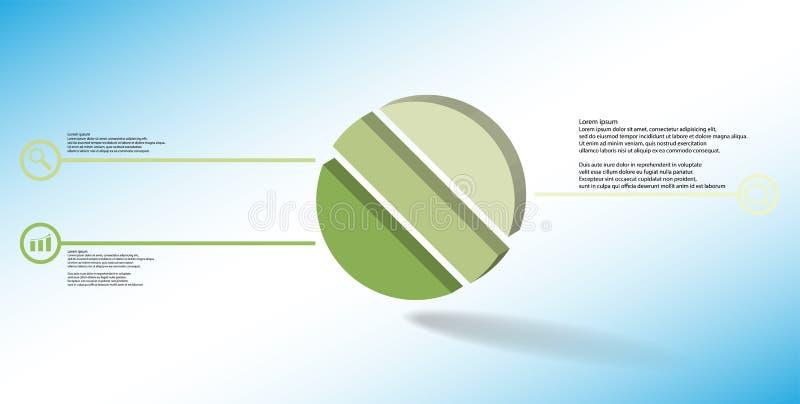 molde infographic da ilustração 3D com o anel gravado dividido a três porções ilustração stock