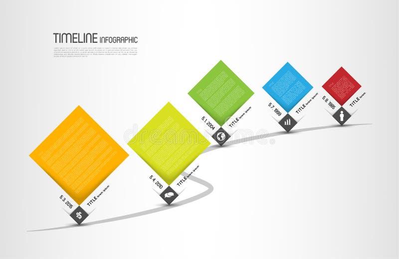 Molde infographic do espaço temporal ilustração stock