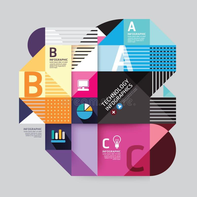 Molde infographic do estilo mínimo do projeto moderno. ilustração royalty free