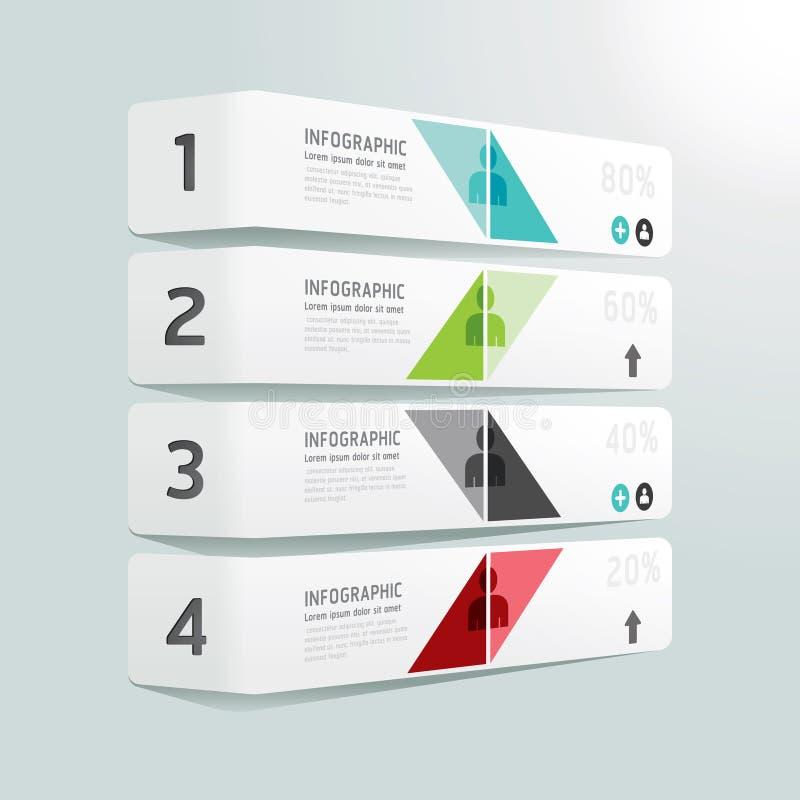 Molde infographic do estilo mínimo do projeto moderno. ilustração stock