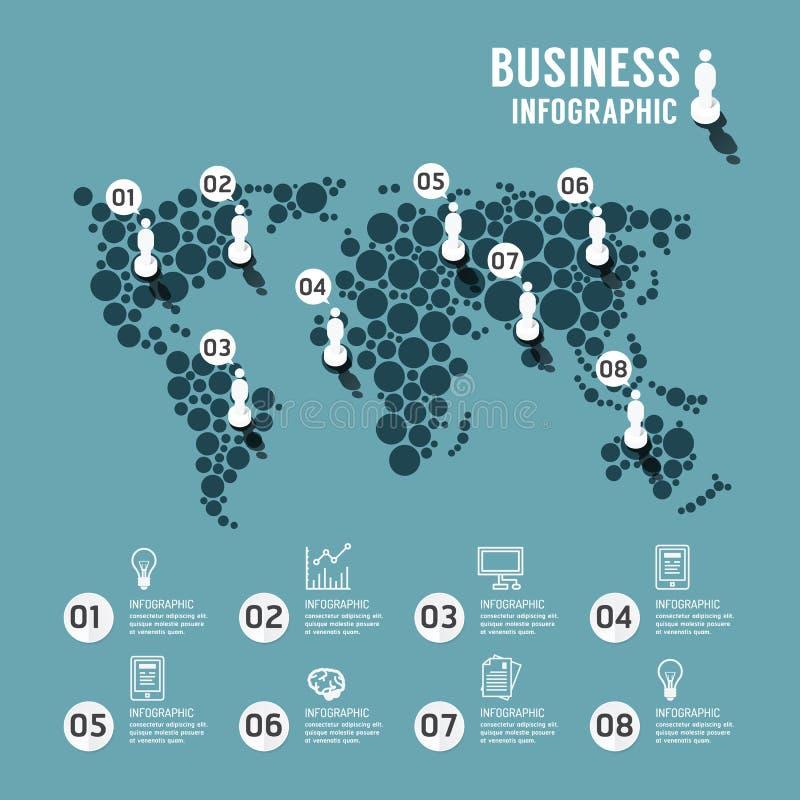 Molde infographic do mundo do projeto moderno ilustração stock