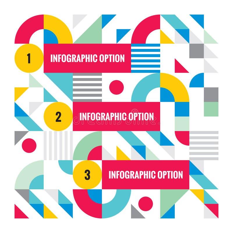 Molde infographic do negócio abstrato - ilustração criativa do conceito do vetor Bandeira numerada das opções da etapa ilustração do vetor
