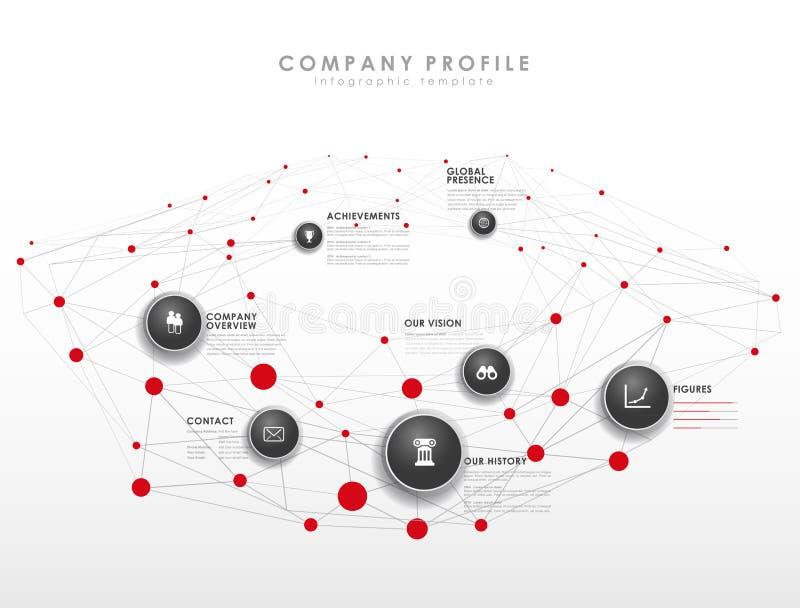 Molde infographic do perfil da empresa ilustração do vetor