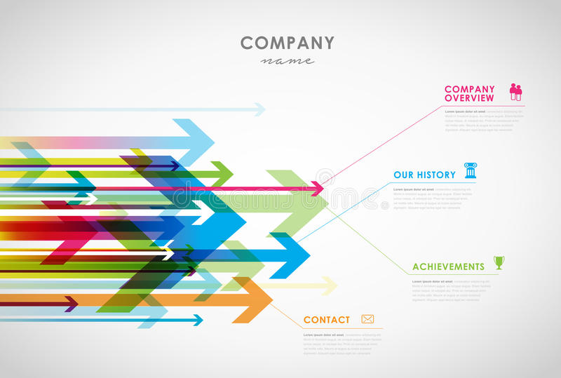 Molde infographic do projeto da vista geral da empresa ilustração stock
