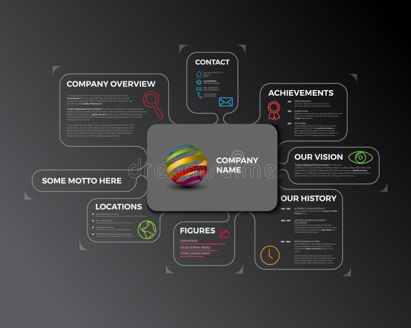 Molde infographic do projeto da vista geral de Vetor Empresa ilustração stock