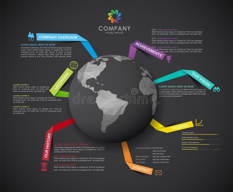 Molde infographic do projeto da vista geral de Vetor Empresa ilustração do vetor