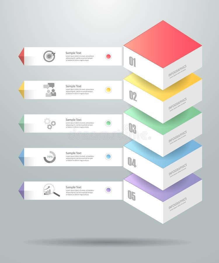 Molde infographic do projeto pode ser usado para a disposição dos trabalhos, diagrama ilustração stock
