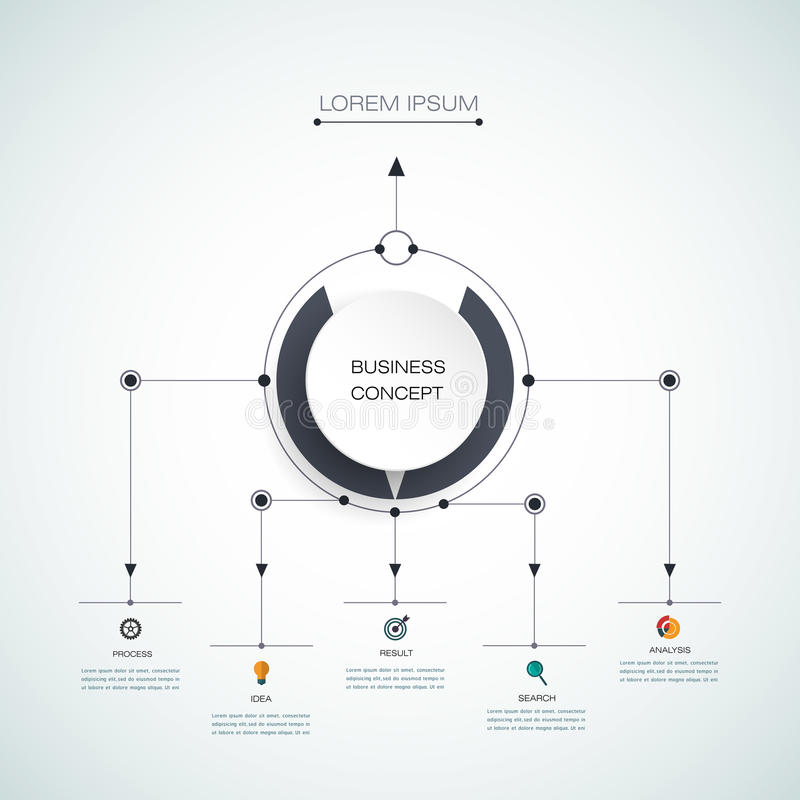 Molde infographic do vetor Conceito do negócio com opções ilustração stock