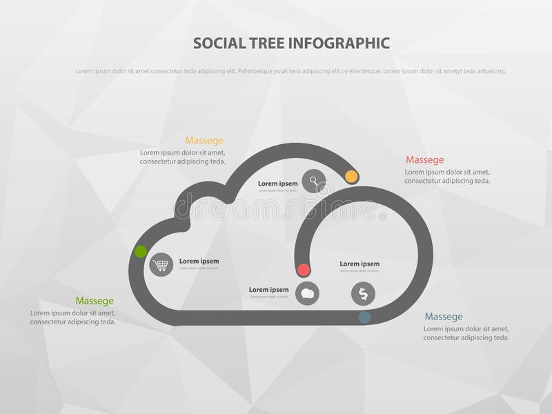Molde infographic do vetor para o diagrama, conceito do graphbusiness com 4 opções - O arquivo do vetor ilustração do vetor