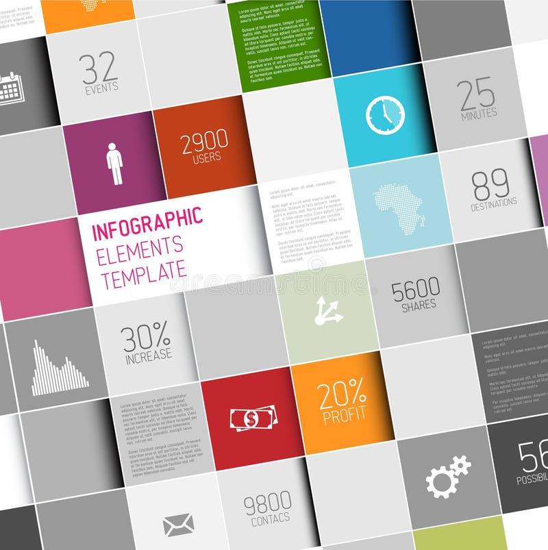 Molde infographic dos quadrados abstratos do vetor ilustração do vetor