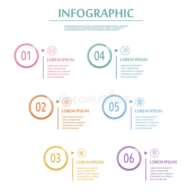 Molde infographic elegante ilustração stock