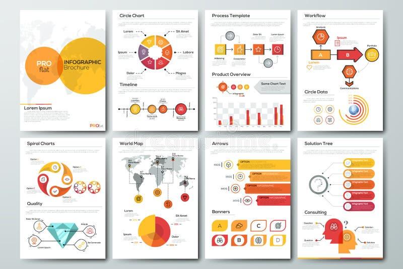 Molde infographic moderno do folheto ilustração royalty free