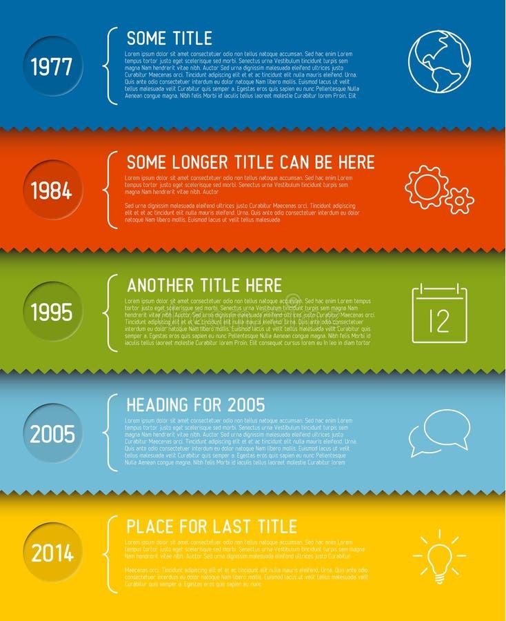 Molde infographic moderno do relatório do espaço temporal ilustração stock